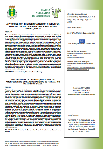 Capa da A propose for the delimitation of the buffer zone of the Itatiaia National Park, Rio de Janeiro, Brazil