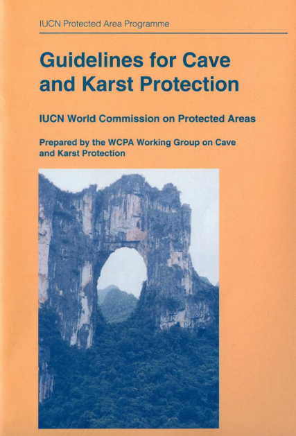 Capa da Guidelines for cave and karst protection