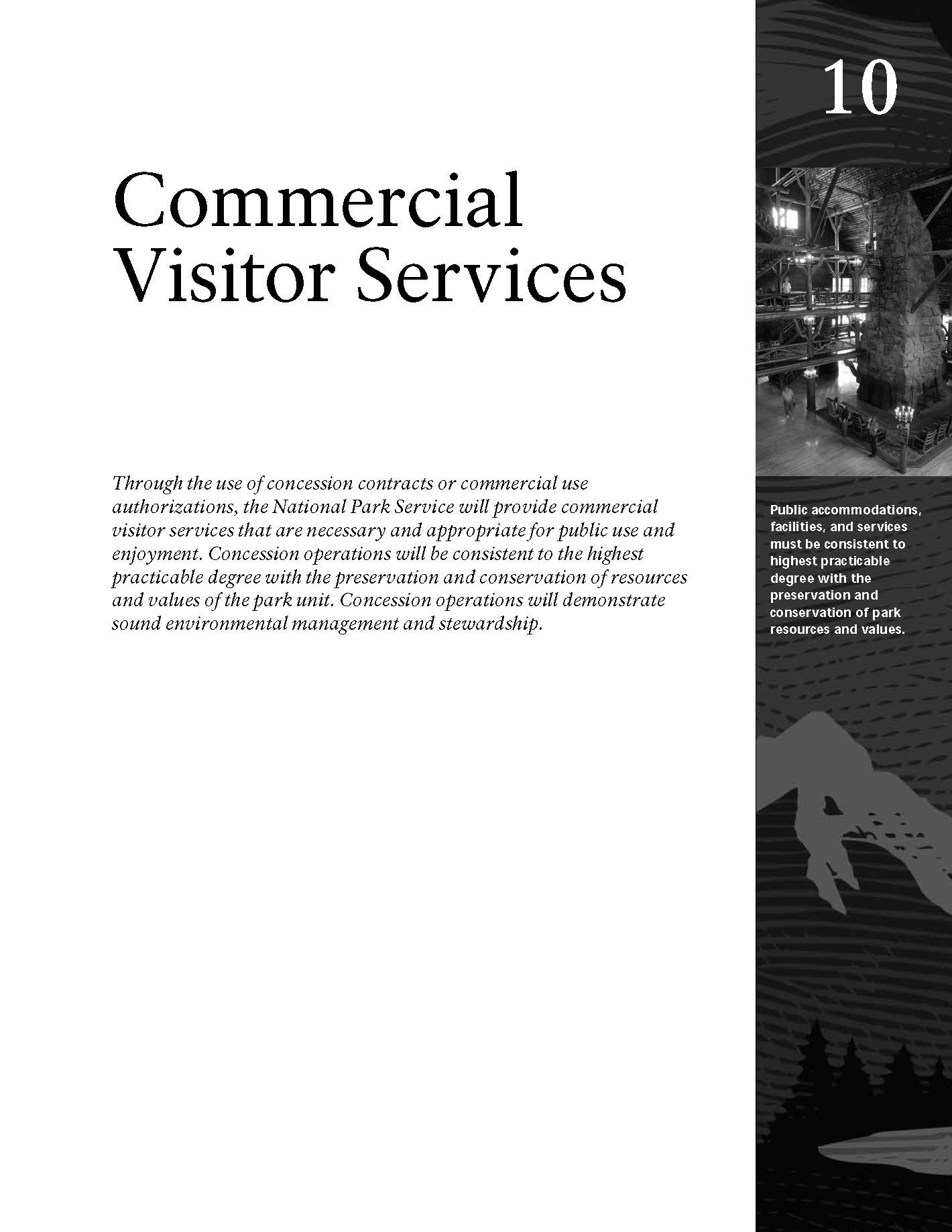 Capa da Commercial Visitor Services – 10