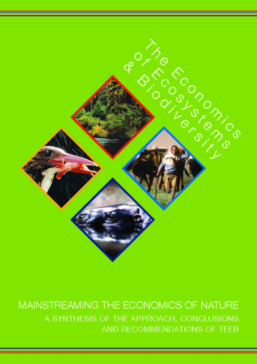 Capa da The economics of ecosystems e biodiversity