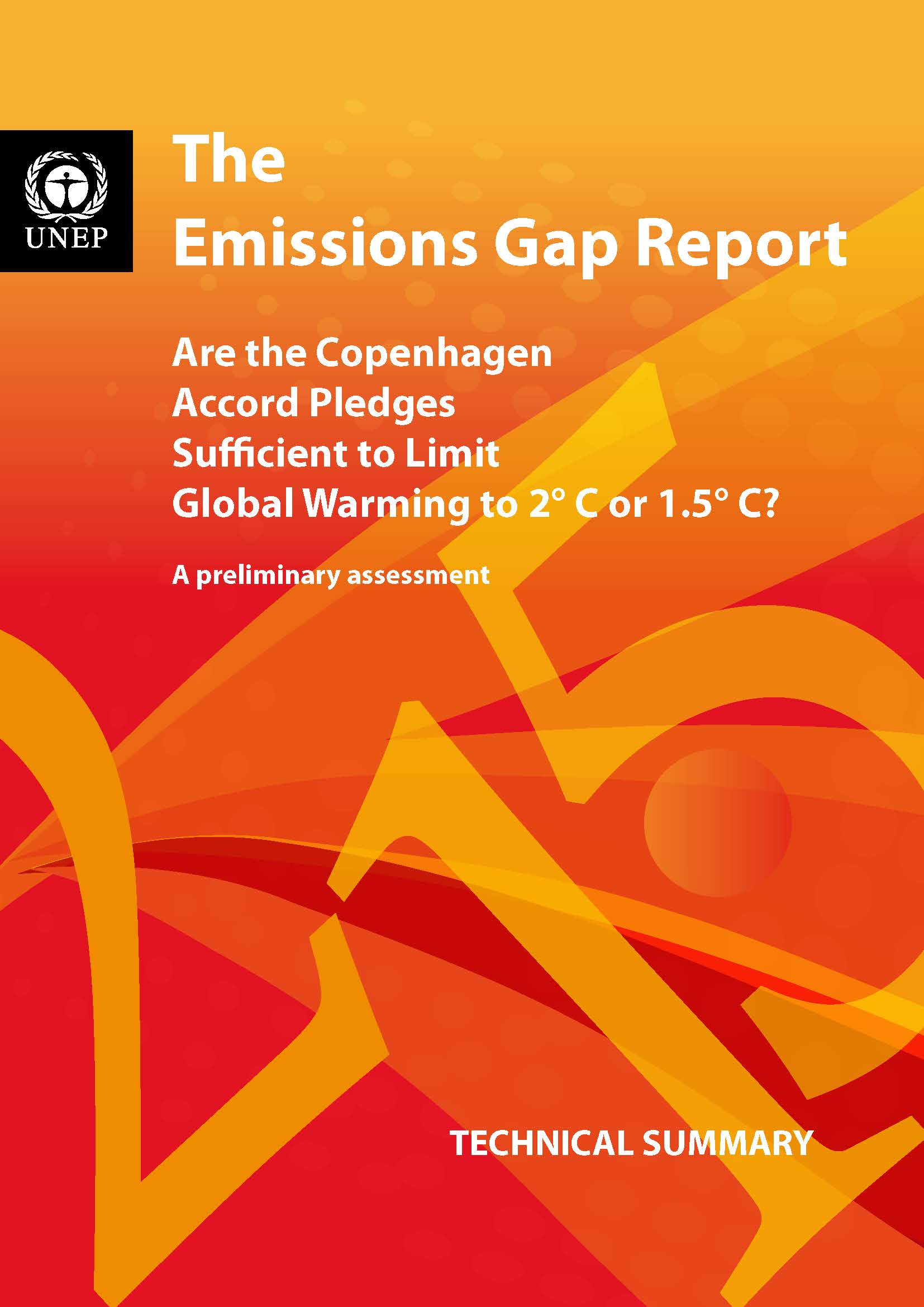 Capa da The Emissions Gap Report
