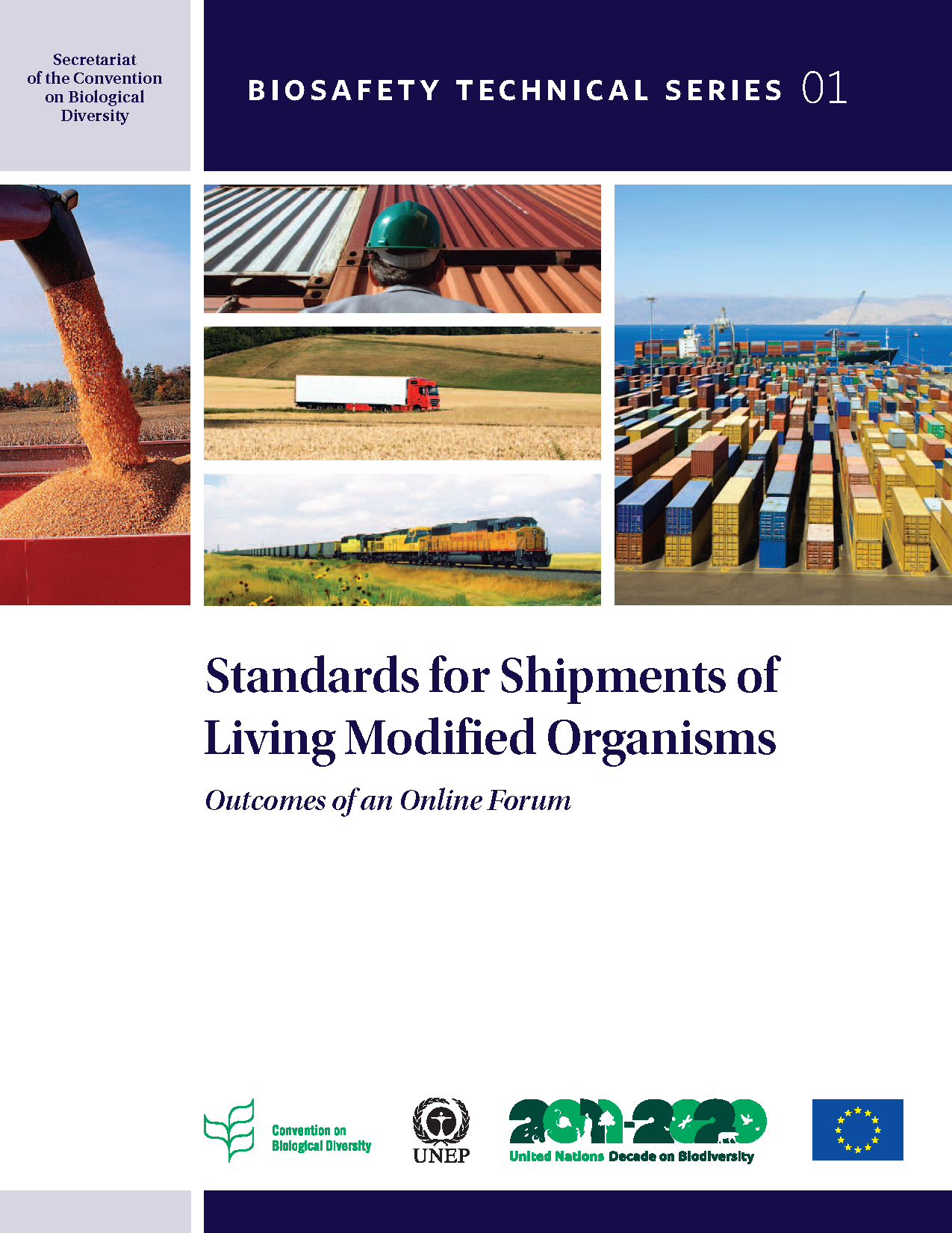 Capa da Standards for Shipments of Living Modified Organisms