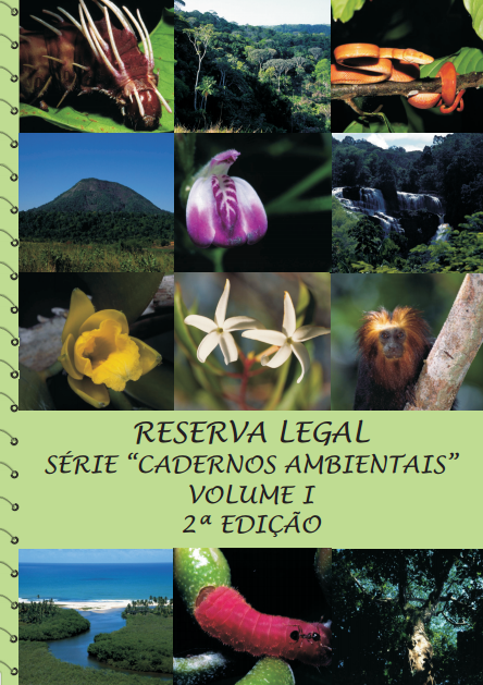 Capa da Série Cadernos Ambientais volume 01 - Reserva Legal