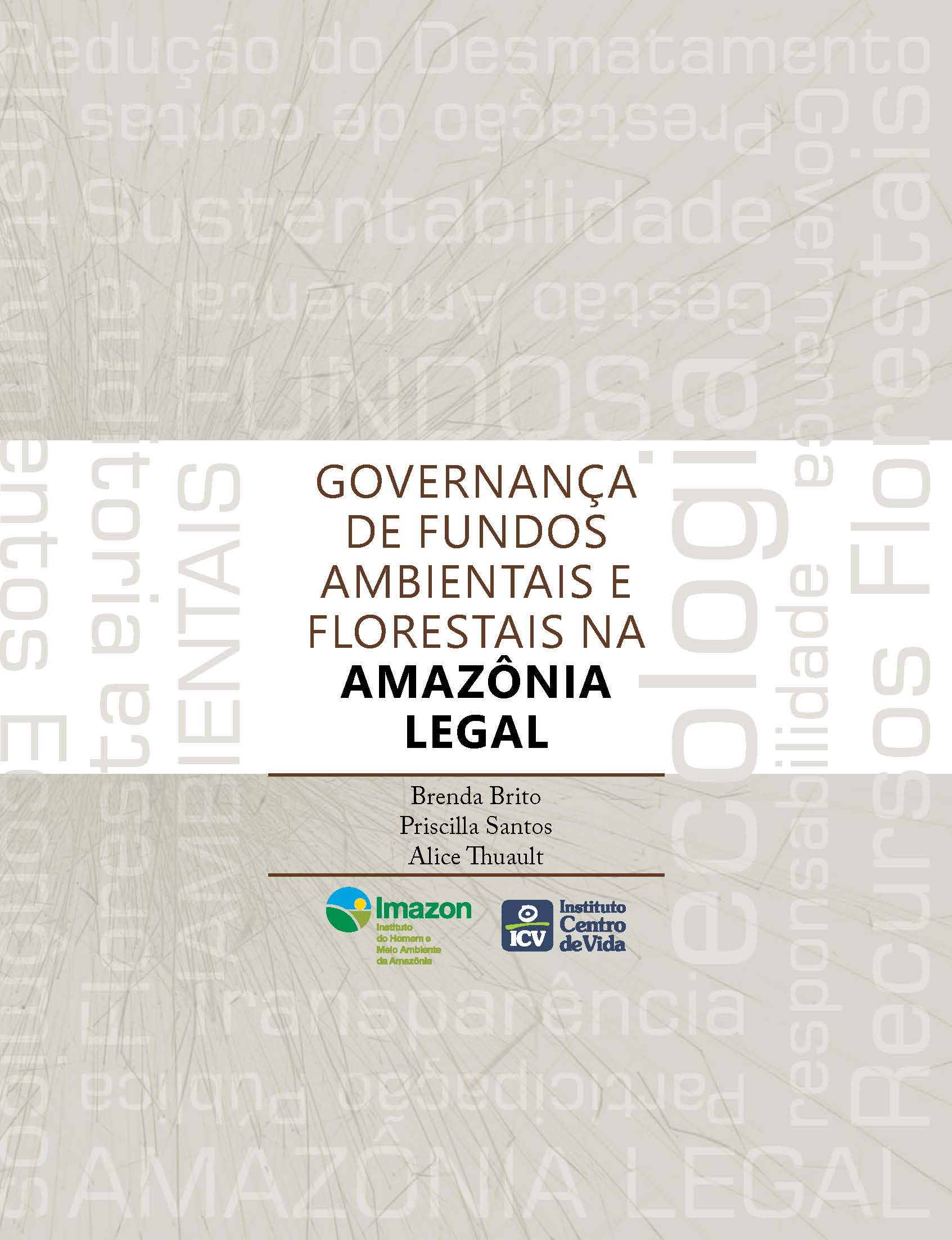 Capa da Governança de fundos ambientais e florestais na Amazônia Legal