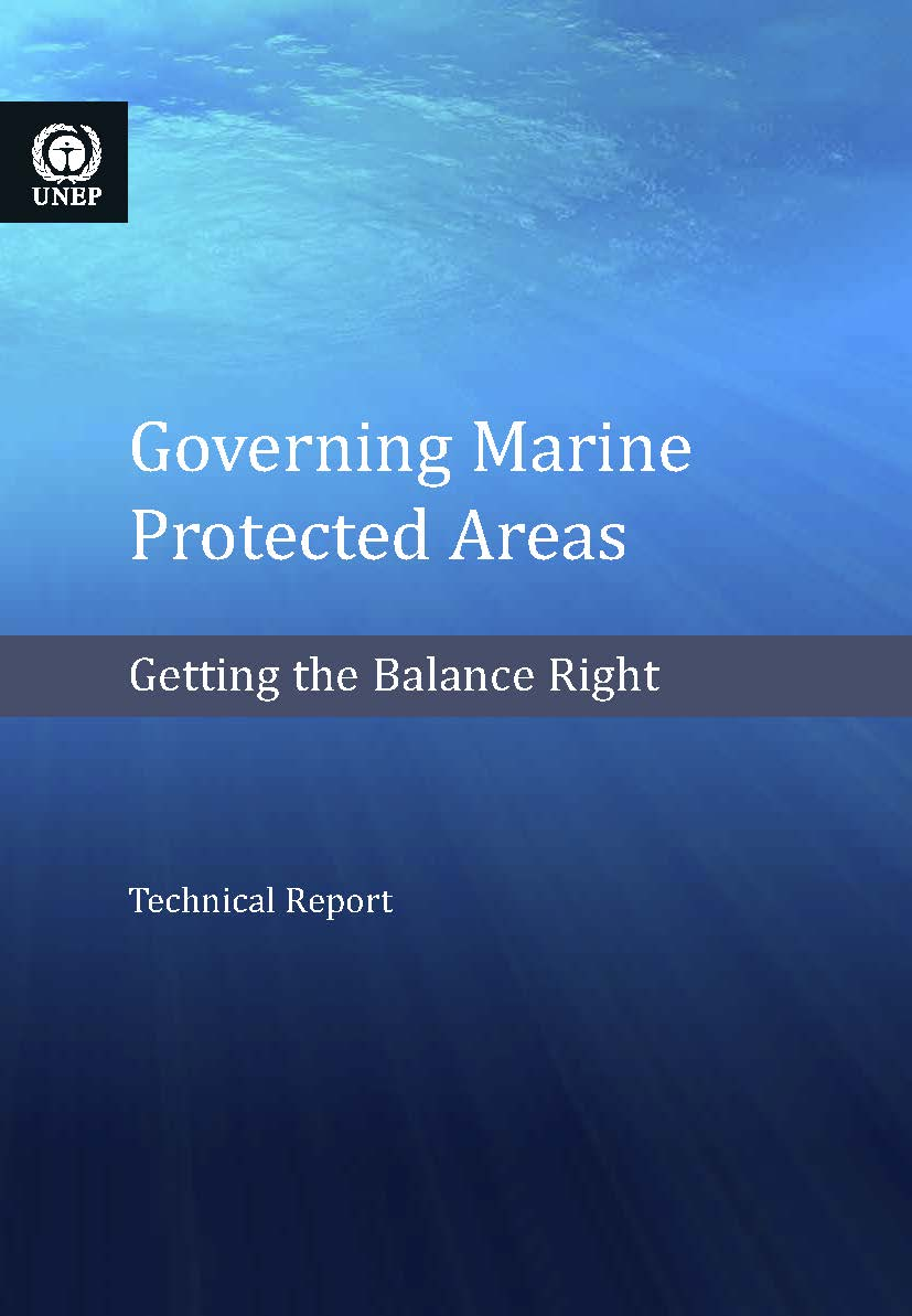Capa da Governing marine protected areas - Getting the balance right