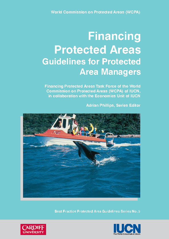 Capa da Financing protected areas guidelines for protected area managers