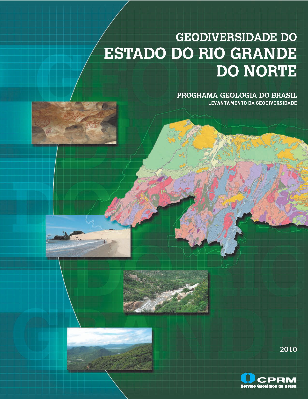 Capa da Geodiversidade do Estado do Rio Grande do Norte