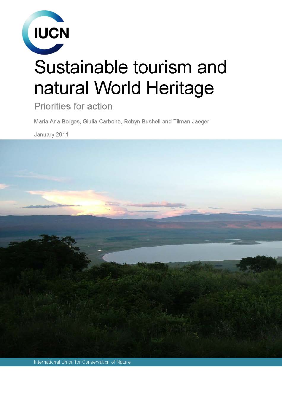 Capa da Sustainable tourism and natural World Heritage