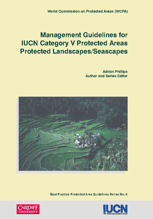 Capa da Management guidelines for IUCN category V protected areas protected landscapes-seascapes