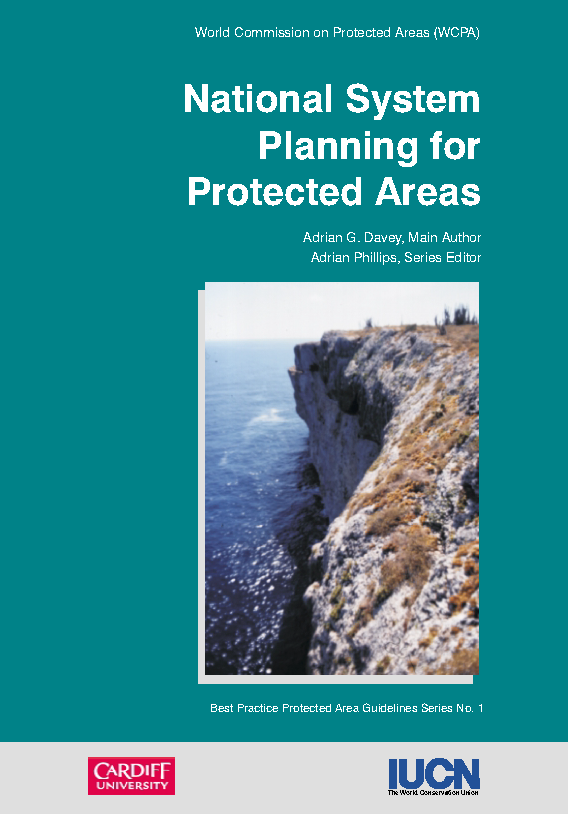 Capa da National system planning for protected areas