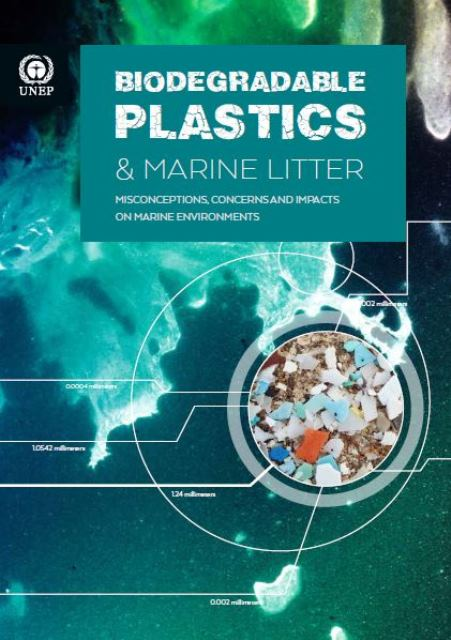 Capa da Biodegradable Plastics and Marine Litter. Misconceptions, concerns and impacts on marine environments
