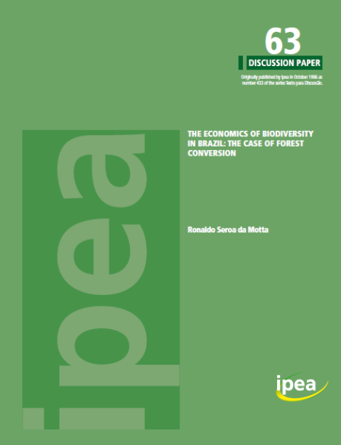 Capa da The economics of biodiversity in Brazil: the case of forest conversion