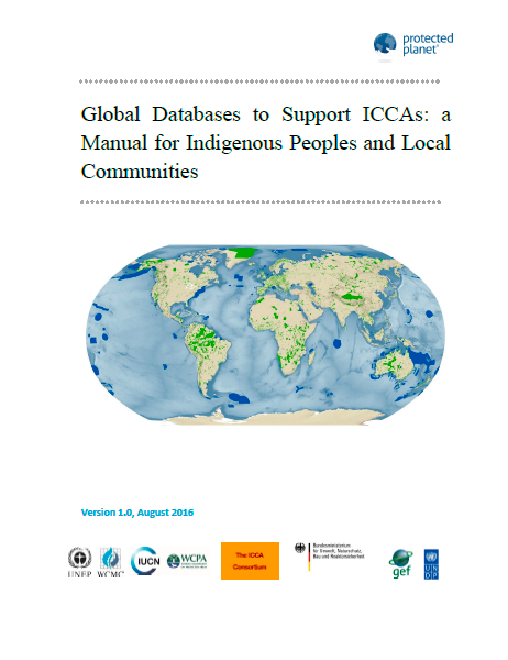 Capa da Global Databases to Support ICCAs: a Manual for Indigenous Peoples and Local Communities