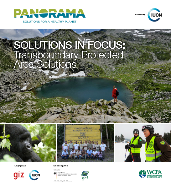 Capa da Solutions in Focus: Transboundary Protected Area Solutions