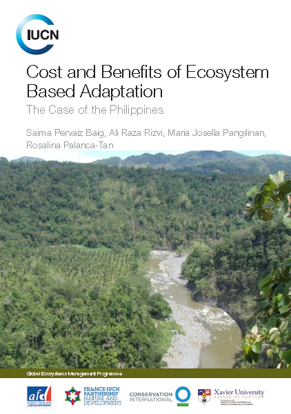 Capa da Cost and Benefits of Ecosystem Based Adaptation