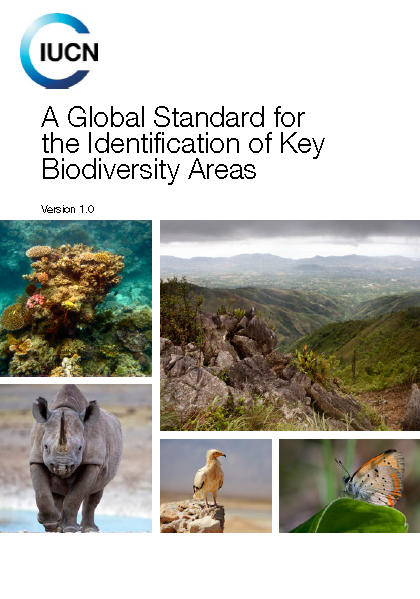 Capa da A Global Standard for the Identification of Key Biodiversity Areas