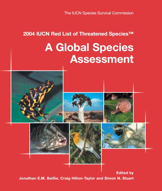 Capa da 2004 IUCN Red List of Threatened Species