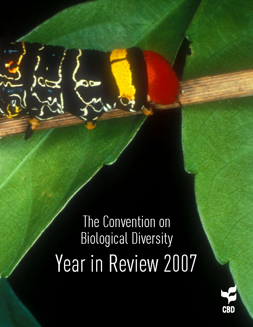 Capa da The Convention on Biological Diversity - Year in Review 2007