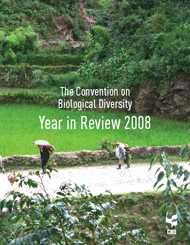 Capa da The Convention on Biological Diversity - Year in Review 2008