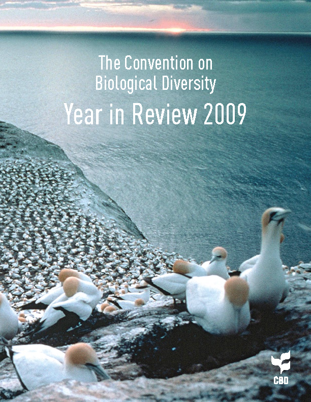 Capa da The Convention on Biological Diversity - Year in Review 2009