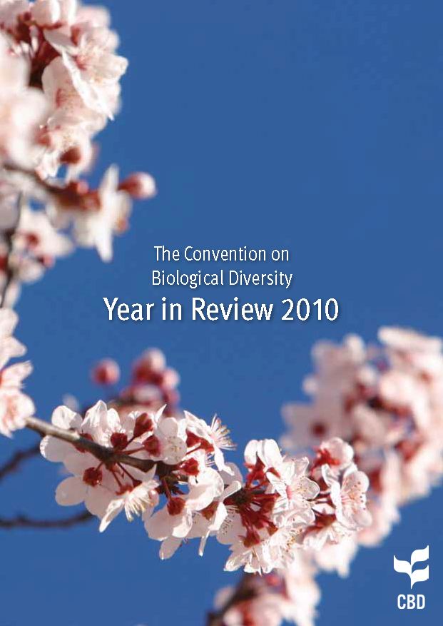 Capa da The Convention on Biological Diversity - Year in Review 2010