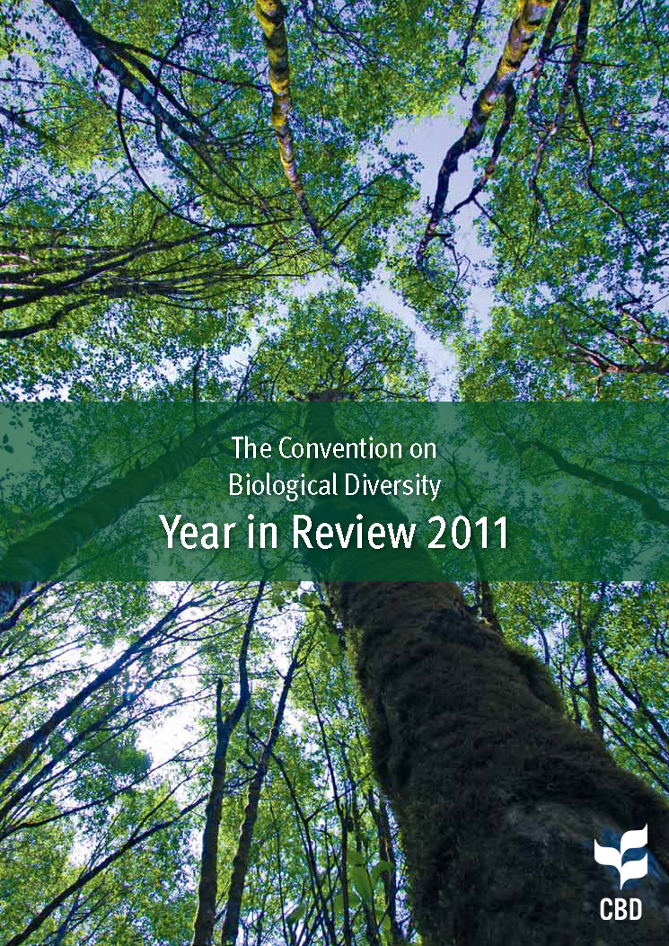 Capa da The Convention on Biological Diversity - Year in Review 2011