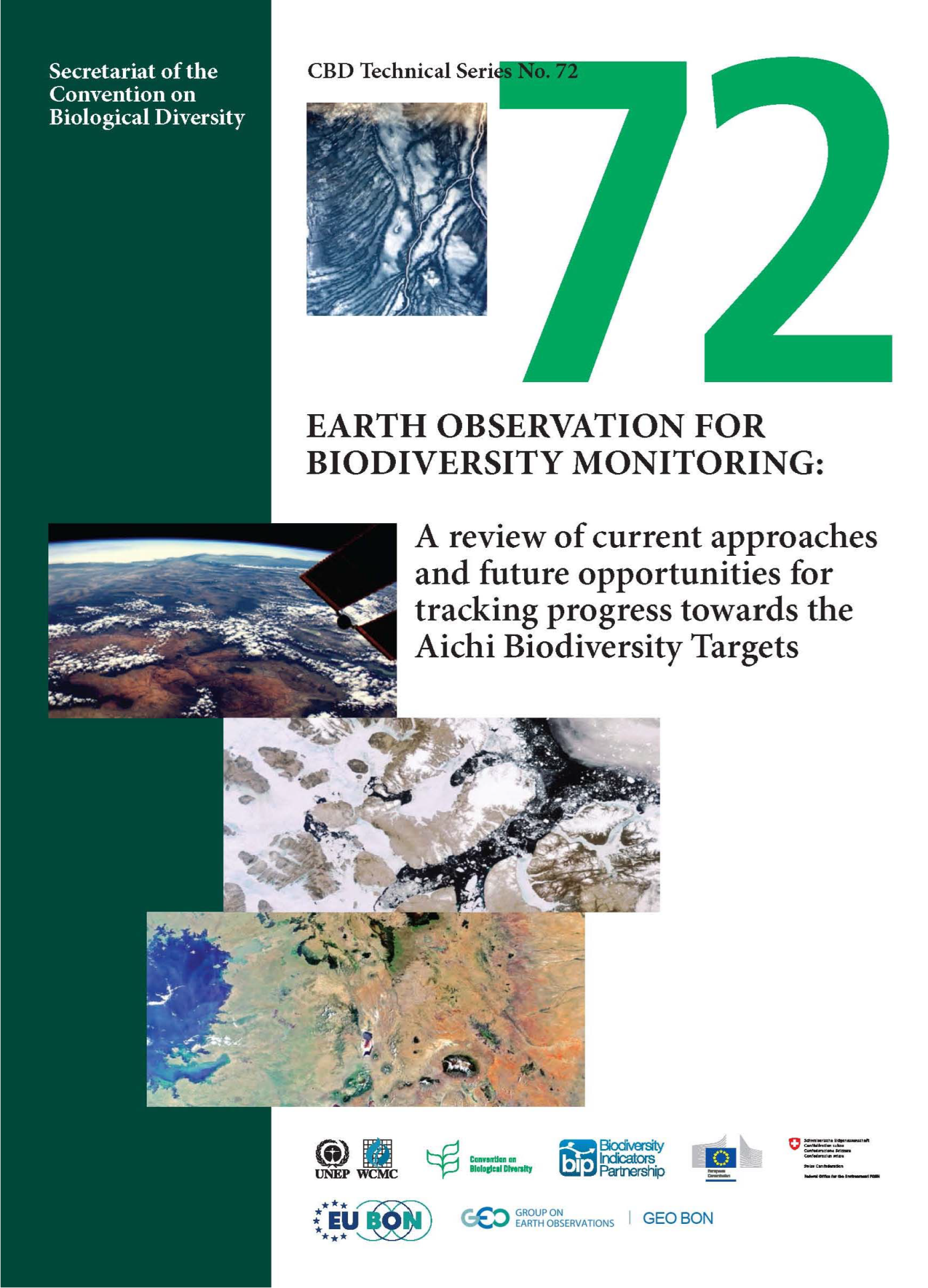 Capa da Earth Observation for Biodiversity Monitoring: A review of current approaches and future opportunities for tracking progress towards the Aichi Biodiversity Targets