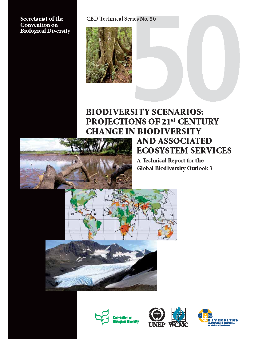 Capa da Biodiversity Scenarios: Projections of 21st century change in biodiversity and associated ecosystem services