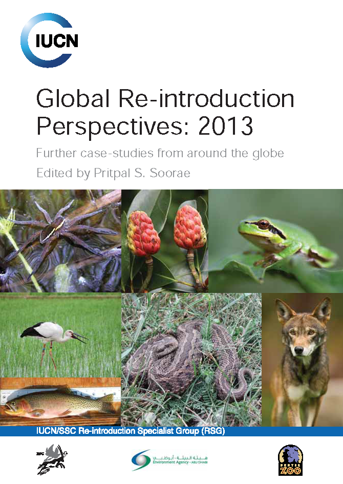 Capa da Global Re-introduction Perspectives: 2013