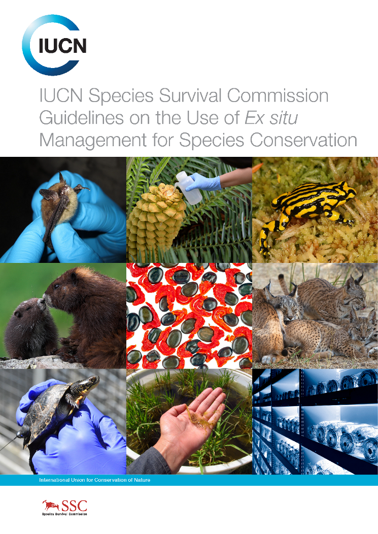 Capa da IUCN Species Survival Commission - Guidelines on the Use of Ex Situ Management for Species Conservation