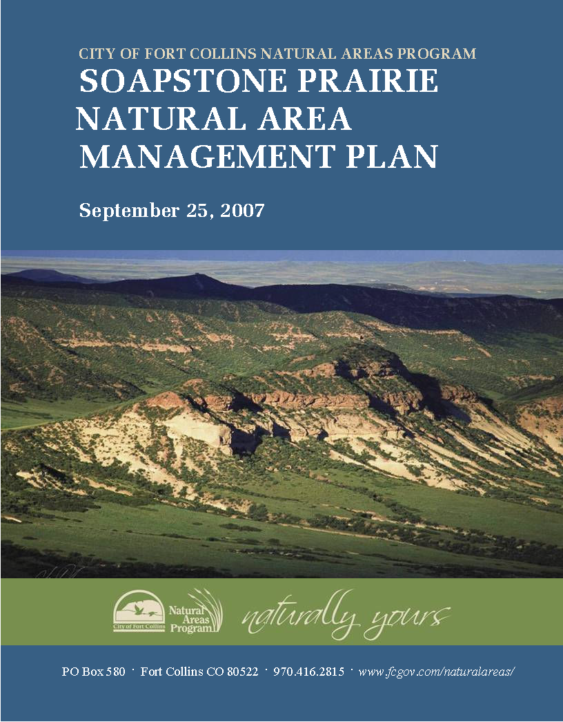 Capa da Soapstone Prairie Natural Area Management Plan