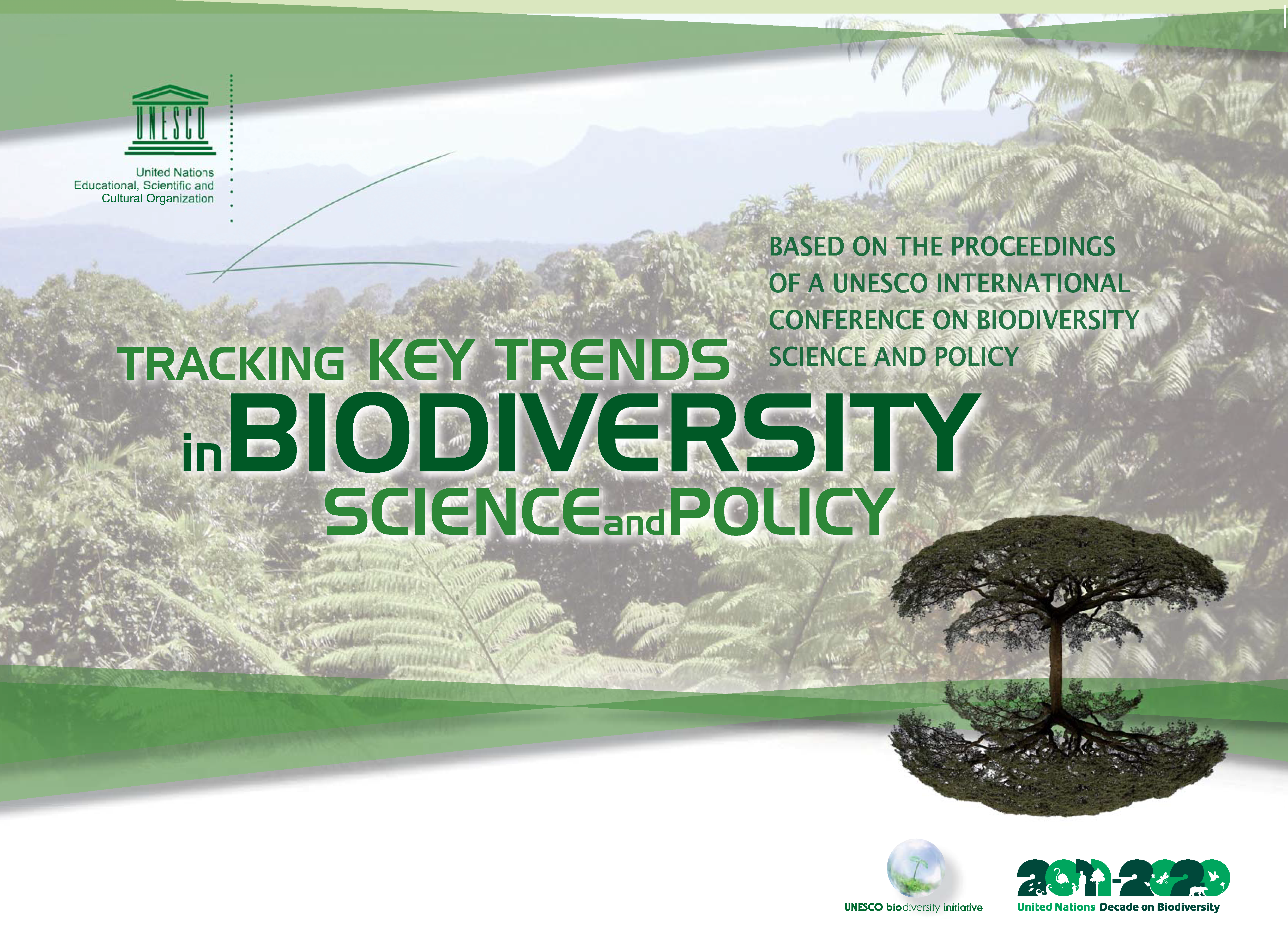 Capa da Tracking key trends in biodiversity science and policy