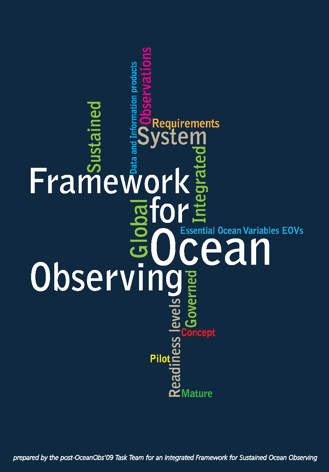 Capa da A framework for ocean observing