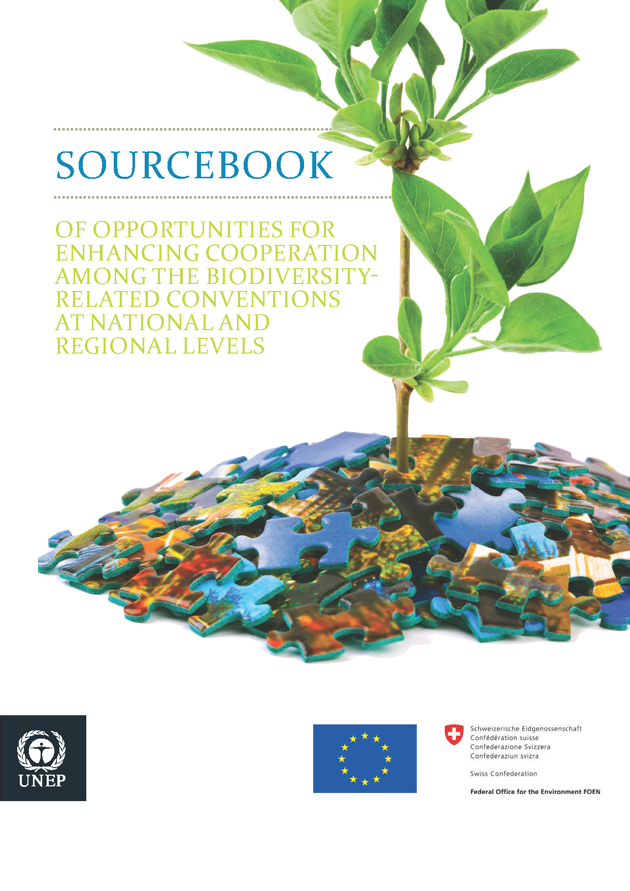 Capa da Sourcebook of opportunities for enhancing cooperation among the Biodiversity-related Conventions at national and regional levels