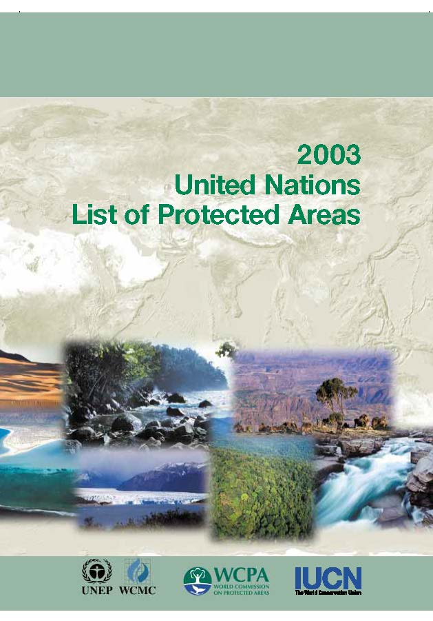 Capa da 2003 United Nations List of Protected Areas